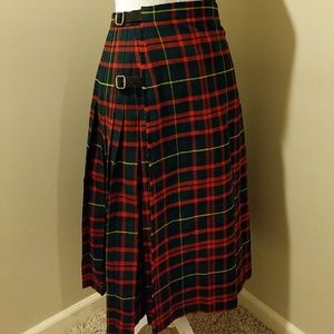 Scotch house plaid tartan Scottish kilt NWOT